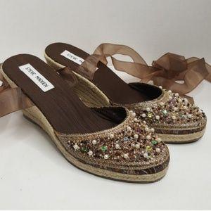 Shoes - Steve Madden Bronze Bombay Espadrilles
